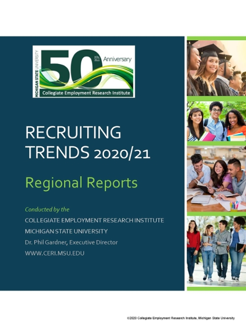 cover image for recruiting trends 2020 regional reports